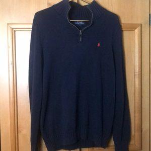 Polo Ralph Lauren boys XL 18-20 1/4 zip sweater